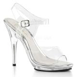 Transparent 12,5 cm POISE-508 sandales à talons aiguilles