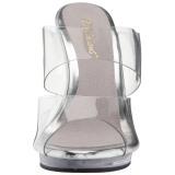 Transparent 12 cm FLAIR-402 Chaussures Mules pour Hommes