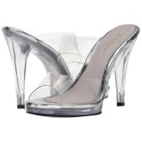 Transparent 12 cm FLAIR-402 mules talons hauts