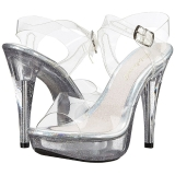 Transparent 13 cm COCKTAIL-508MG Plateforme Sandales Hauts Talons