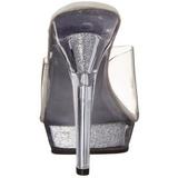 Transparent 13 cm Fabulicious LIP-101 Mules Etincelle Talons Aiguilles