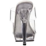 Transparent 13 cm Fabulicious LIP-102 Pantoufles Talons Hauts