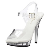 Transparent 13 cm LIP-108 Plateforme Chaussures Talon Haut