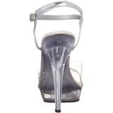 Transparent 13 cm LIP-108R chaussure competition bikini fitness talons hauts