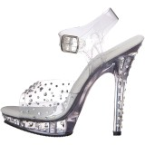 Transparent 13 cm LIP-108RS chaussure competition bikini fitness talons hauts