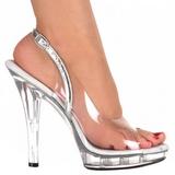 Transparent 13 cm LIP-150 Plateforme Chaussures Talon Haut