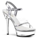 Transparent 14 cm ALLURE-650 Chaussures pour femmes a talon