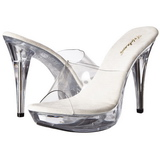 Transparent 14 cm COCKTAIL-501 Plateforme Mules Chaussures