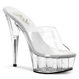Transparent 15,5 cm Pleaser DELIGHT-601 Plateforme Mules Chaussures