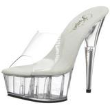 Transparent 15,5 cm Pleaser DELIGHT-601 Plateforme Mules Chaussures