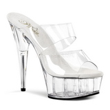 Transparent 15,5 cm Pleaser DELIGHT-602 Plateforme Mules Chaussures