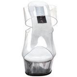 Transparent 15,5 cm Pleaser DELIGHT-602 Plateforme Mules Chaussures