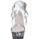 Transparent 15 cm DELIGHT-635 sandales à talons aiguilles