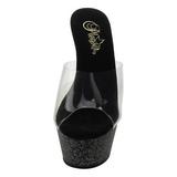 Transparent 15 cm KISS-201MG Scintillement Plateforme Chaussures Mules