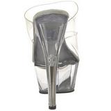 Transparent 15 cm KISS-202 Plateforme Mules Chaussures