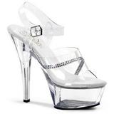 Transparent 15 cm KISS-208R Chaussures pour femmes a talon