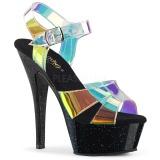 Transparent 15 cm KISS-220MMR sandales à talons aiguilles