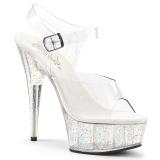Transparent 15 cm Pleaser DELIGHT-608MG chaussures à talons etincelle