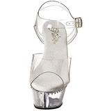 Transparent 15 cm Pleaser KISS-208LS Talons Aiguilles Plateforme