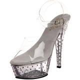 Transparent 15 cm STARDUST-608 Chaussures pour femmes a talon