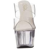 Transparent 18 cm ADORE-702 Plateforme Mules Chaussures