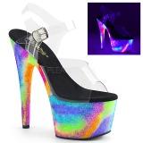 Transparent 18 cm ADORE-708GXY Neon talons avec plateforme