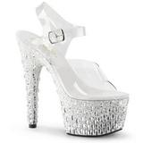 Transparent 18 cm ADORE-708MR-5 Chaussures pour femmes a talon
