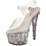 Transparent 18 cm ADORE-708MR Plateforme Chaussures Talon Haut