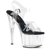 Transparent 18 cm ADORE-708RSTG sandales à talons aiguilles