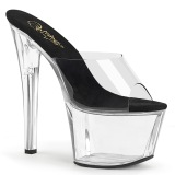 Transparent 18 cm PLEASER SKY-301-2 Plateforme Mules Chaussures