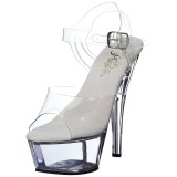 Transparent 18 cm Pleaser KISS-208 Plateforme Chaussures Talon Haut
