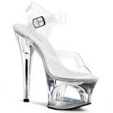 Transparent 18 cm Pleaser MOON-708DM Plateforme Haut Talon
