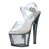 Transparent 18 cm Pleaser SKY-308MG chaussures à talons etincelle