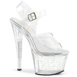 Transparent 18 cm Pleaser SKY-308MMG chaussures à talons etincelle