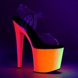 Transparent 19 cm RAINBOW-708UV Plateforme Neon Sandales Femmes
