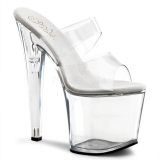 Transparent 19 cm TABOO-702 Plateforme Mules Chaussures