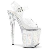 Transparent 20 cm Pleaser FLAMINGO-808MMG chaussures à talons etincelle