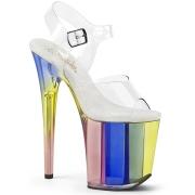 Transparent 20 cm Pleaser FLAMINGO-808RT chaussure à talons de pole dance