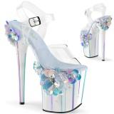 Transparent 20 cm Pleaser FLAMINGO-808SQFL chaussure à talons de pole dance