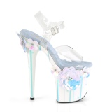 Transparent 20 cm Pleaser FLAMINGO-808SQFL chaussure à talons de pole dance