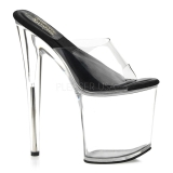 Transparent 20 cm SOL-801-O Plateforme Mules Chaussures