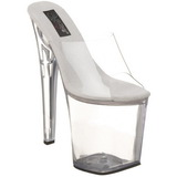Transparent 20 cm XTREME-801 Plateforme Mules Chaussures