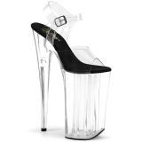 Transparent 25,5 cm BEYOND-0082 talons très hauts - chaussures plateforme extrême