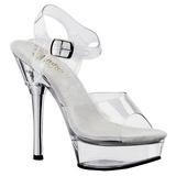 Transparent Completer 14 cm ALLURE-608 Chaussures Plateau Talon Haut