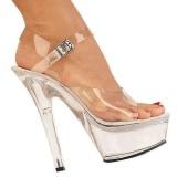 Transparent Completer 15 cm KISS-208 Chaussures Plateau Talon Haut