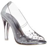 Transparent Cristal 10,5 cm CLEARLY-420 Chaussures Escarpins de Soirée