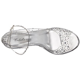 Transparent Cristal 11,5 cm CLEARLY-430RS Sandales de Soirée a Talon