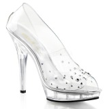 Transparent Cristal 13 cm LIP-182 Chaussures Escarpins de Soirée