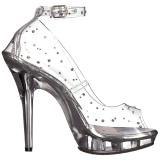 Transparent Cristal 13 cm LIP-183 Chaussures Escarpins de Soirée