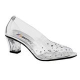 Transparent Cristal 5 cm CRYSTAL-100 Chaussures Escarpins de Soirée